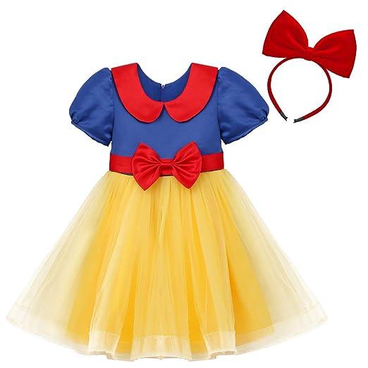 d233b7fae1f3f Amazon.com: IBTOM CASTLE Princess Snow White Costume for Girls Dress ...
