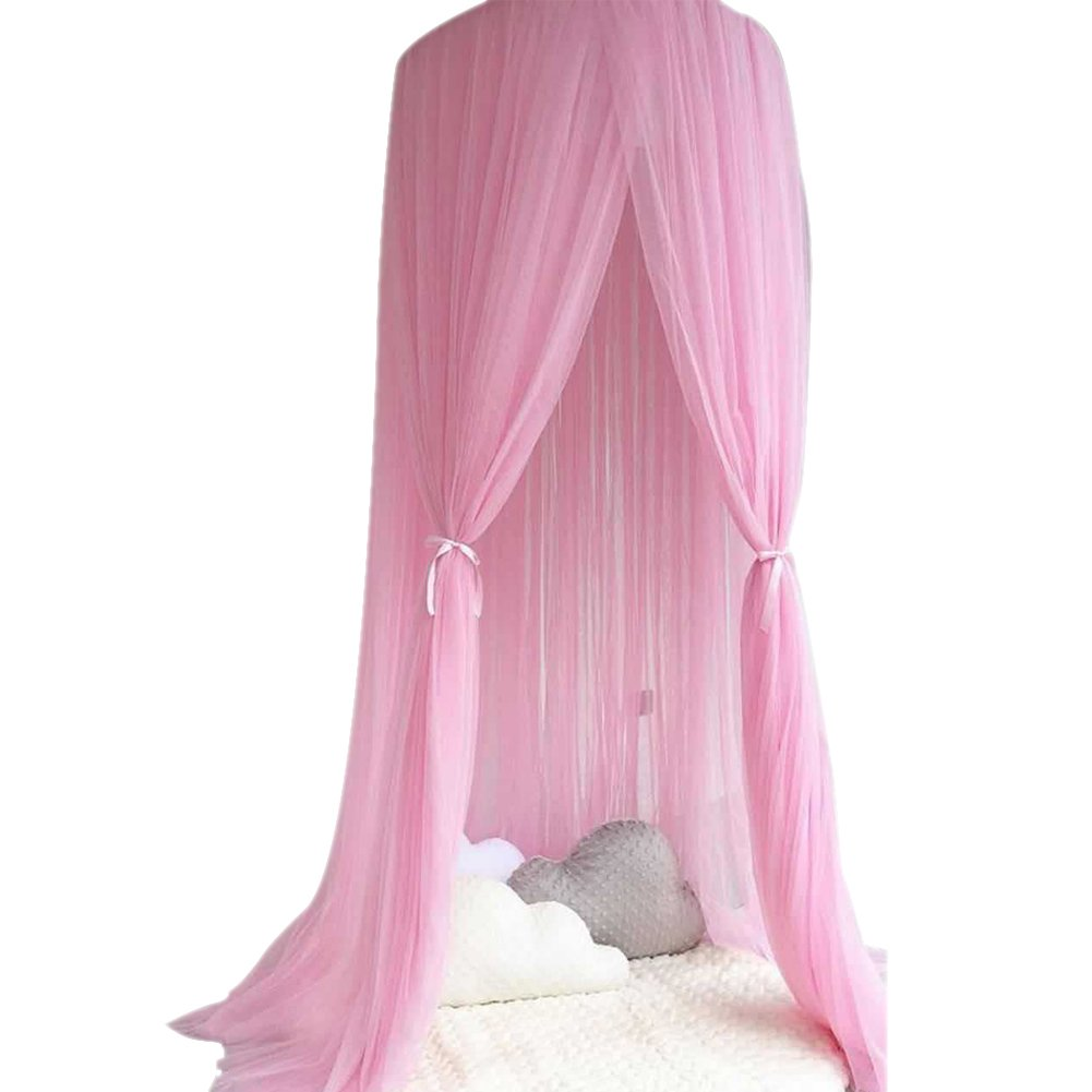Kuuboo Children Bed Canopy, nursery decorations, Kids Dome Cotton Mosquito Net Play Tent Room Decoration Good for Baby Indoor Outdoor Playing Reading bedroom dressing room Height 300cm Easy to Install Baby Bed Canopy