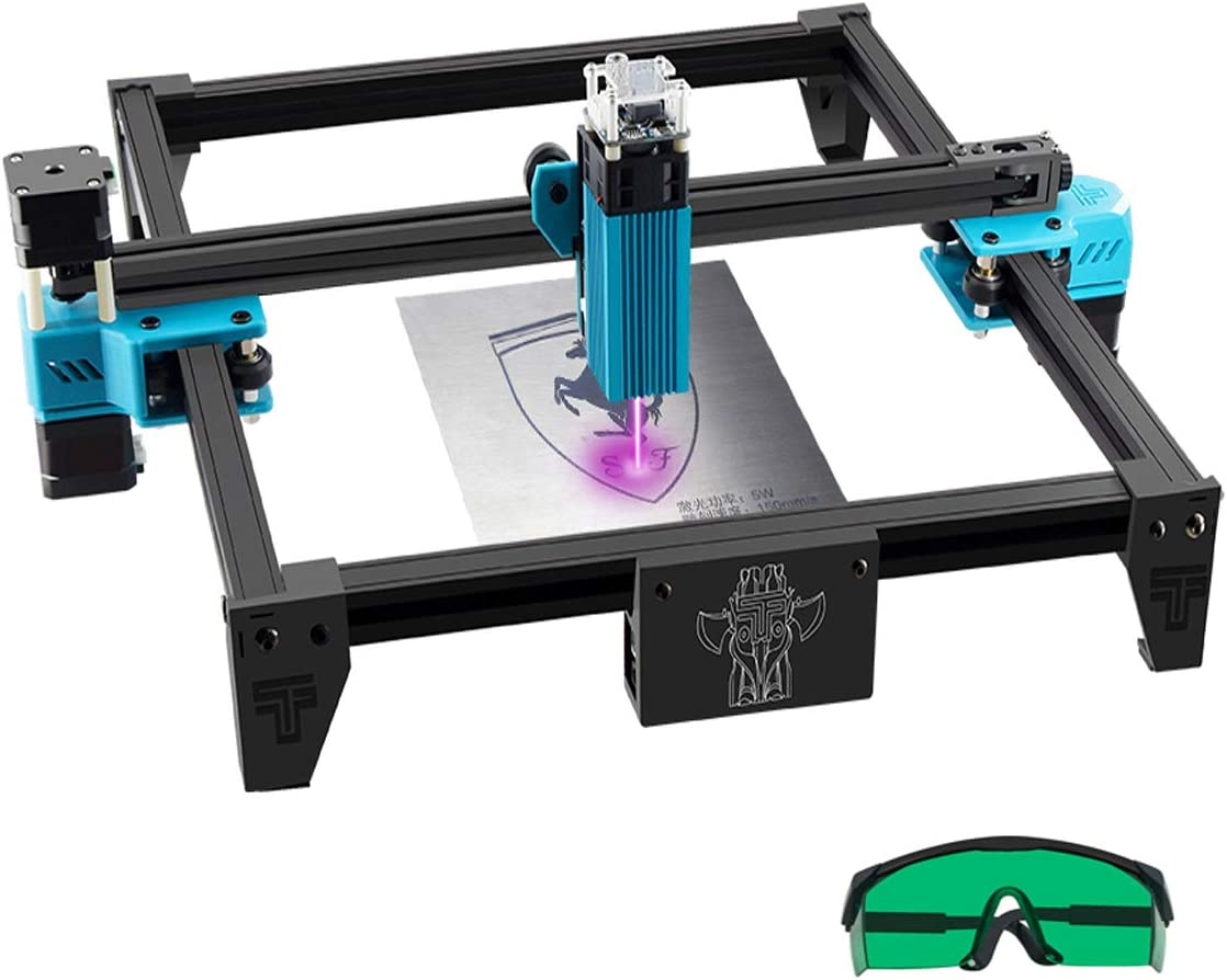 Tresbro Totem S Laser Engraving Machine Frame DIY Compressed Spot LD+FAC 5.5W Fast High Precision Cut Engraver Printer Cutter for Wood Metal Stainless Steel