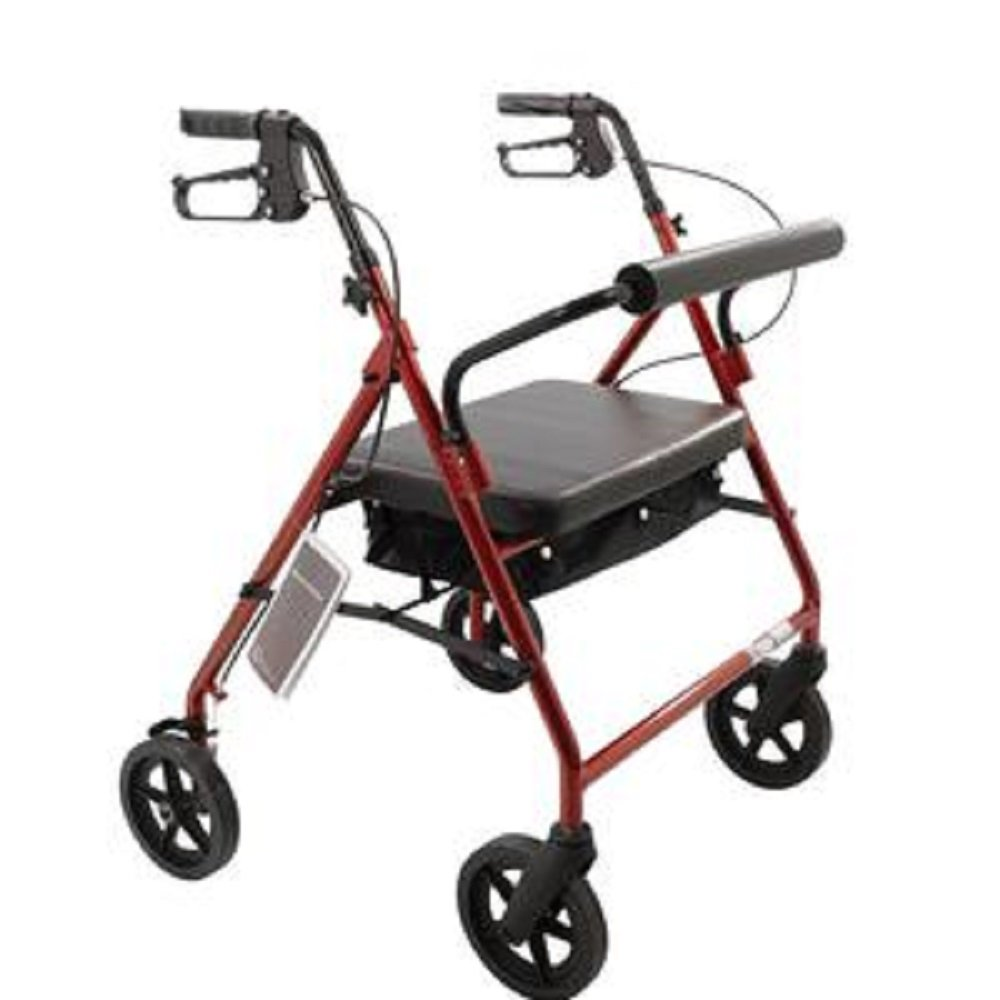 Amazon.com: Rollator Walker Heavy Duty con asiento acolchado ...