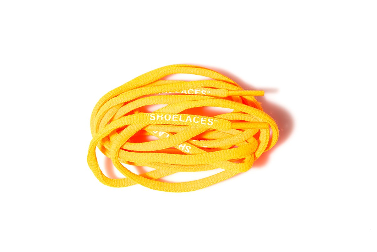 ''Shoelaces'' Custom Text Printed Shoe Laces Swap Font - Oval Polyester Design