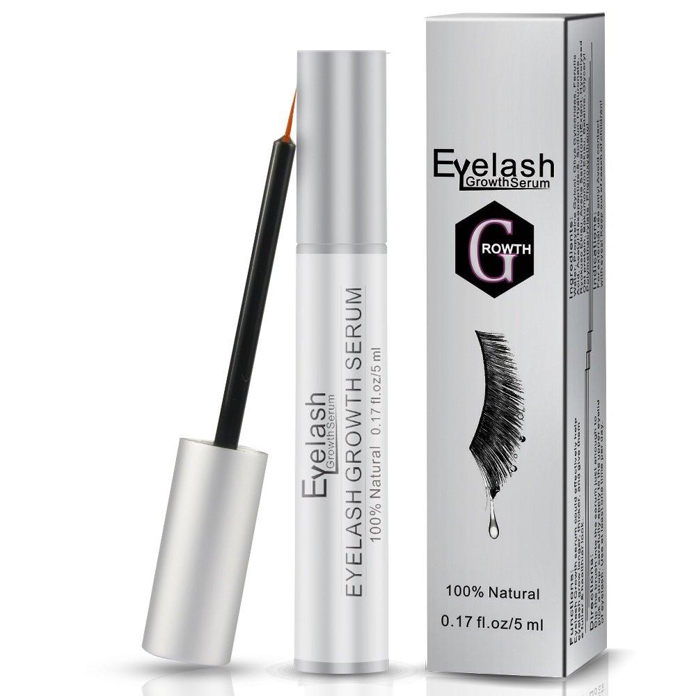 c81f9fe77ed Eyelash Growth Serum, Herwiss Natural Eyebrow Enhancer Serum Product, Brow  & Lash Enhancing Formula for Longer, Thicker Eyelashes and Fuller Eyebrows  - 5ML, ...