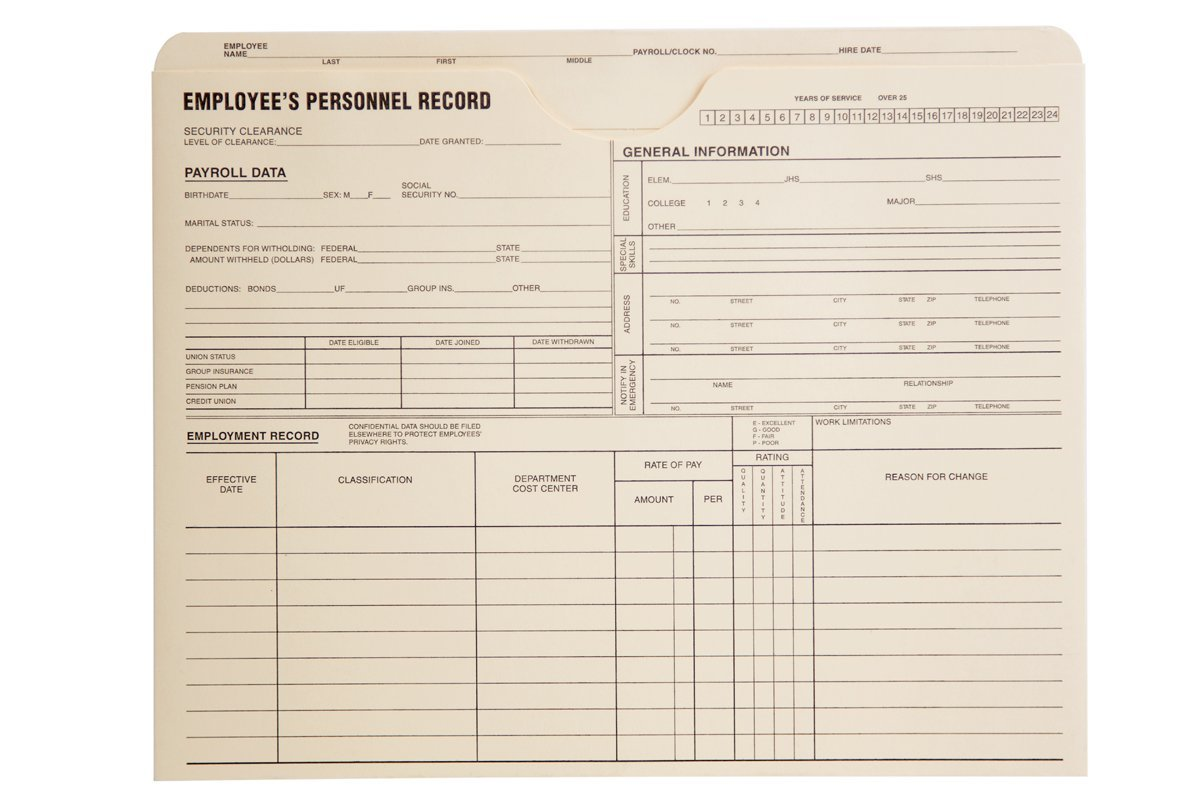 Quality Park Personnel Record Jacket, Flat Expansion, 9-1/2 x 11-3/4 Inches, 100 per Box (QUA69999) by Quality Park