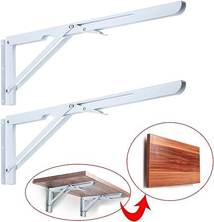 Heavy Duty Metal Triangle Table Benc... Sumnacon Sturdy Folding Shelf Brackets