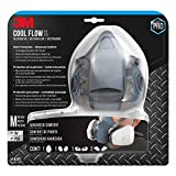 3M Half Facepiece Reusable Paint Respirator All-in-One Kit, Paint Protection - Advanced Comfort, M (1 Mask, 1-pair Cartridges, 2-pair Filters and 1-pair Retainers)