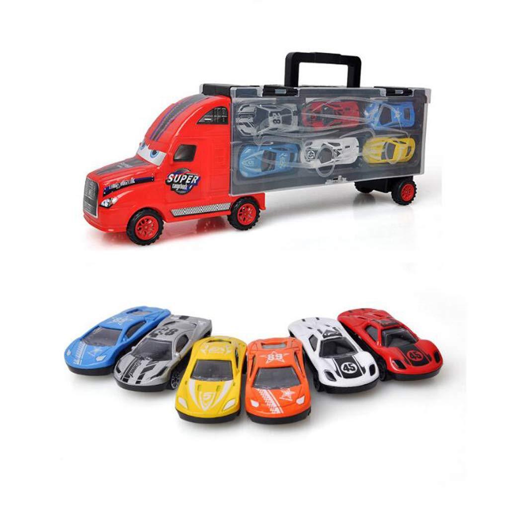 8ba7bf75d Siyushop Juguete Juguete Juguete para Transportar Camiones, transportador  de automóviles con 6 Mini Autos de