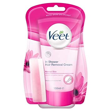 Veet In Shower Hair Removal Cream Normal Skin with Lotus Milk & Jasmine (150ml)