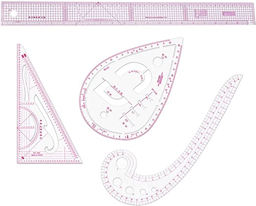 Juego de 13 reglas de pl/ástico con forma de curva francesa para manualidades y costura Tiazza
