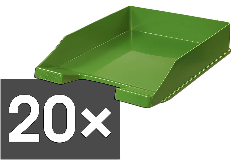 wei/ß // 20er Pack stapelbar modern DIN A4//C4 HAN 1027 Briefablage KLASSIK stabil