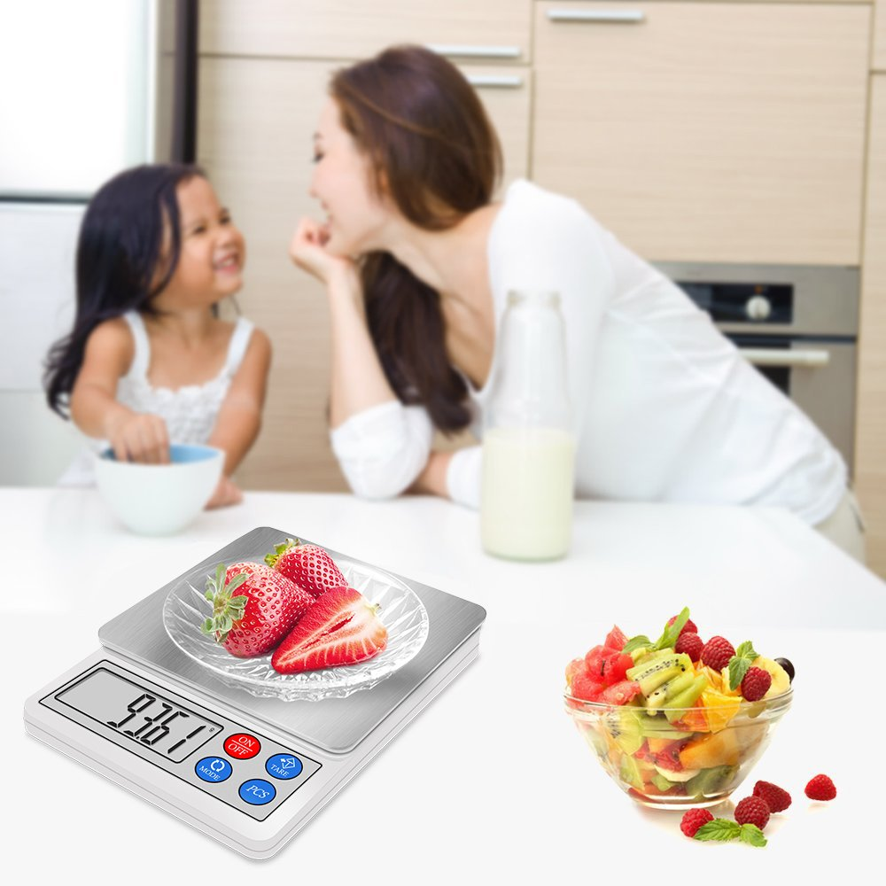 Digital Kitchen and Food Scale 600g 0.01g, Next-shine High-precision Pocket Scale, Multi-functionals Pro Scale with LCD Display, Tare, PCS, Back-lit