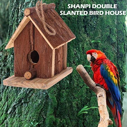 Nido para pájaros exteriores; casa; nido para pájaros, desagües de madera, exterior, decoración de jardín, terraza o balcón.: Amazon.es: Hogar