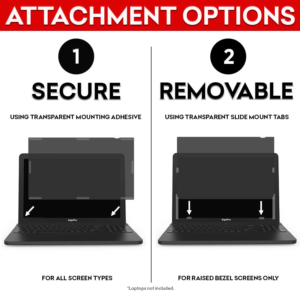 SightPro 12.5 inch Laptop Privacy Screen Filter (Black) - Privacy Protector for 12.5'' 16:9 Widescreen Computer Monitor by SightPro (Image #6)
