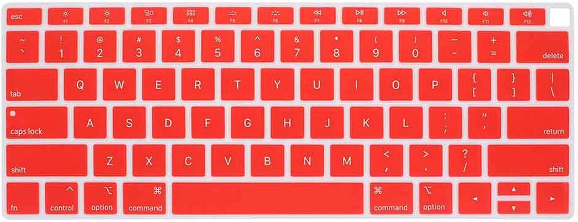 Laptop Keyboard Protective Film Waterproof for MacBook Air 13 Inch Notebook Keyboard Cover U.S Edition-Red