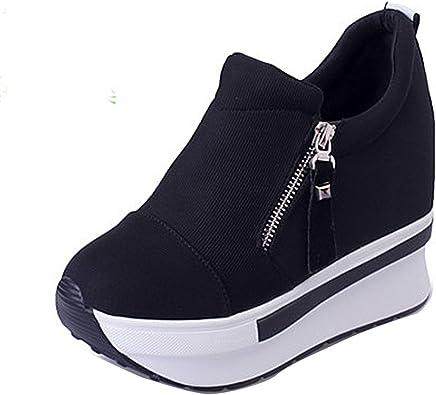 "3 Color Casual Close Toe Womens 5.5"" Wedge High Heel Platform Pump Ankle Booties"