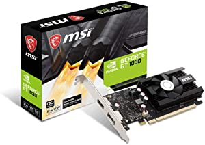 MSI GT 1030 2GD4 LP OC Computer Graphics Cards (Renewed)