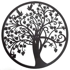 Amazon Com Beautiful Tree Of Life Metal Wall Hanging