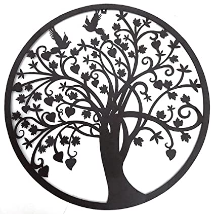 Amazon.com: Bellaa 20193 Beautiful Tree of Life Metal Wall Art ...
