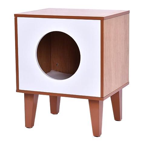 amazon com new cat box cushion bed cleaning enclosure hidden pet