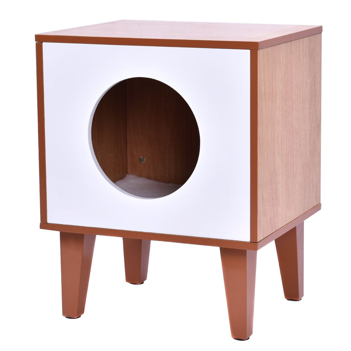 New Cat Box Cushion Bed Cleaning Enclosure Hidden Pet Cabinet Furniture Wood by totoshoppet (Image #1)