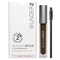 WUNDER2 WUNDERBROW Long Lasting Eyebrow Gel for Waterproof Eyebrow Makeup, Black/Brown Color