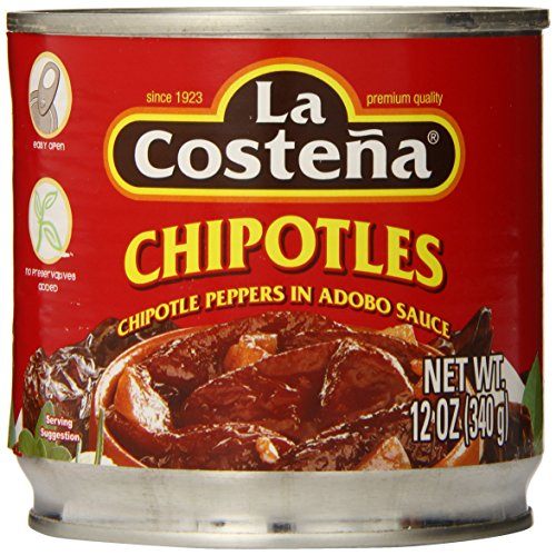 La Costena Chipotle Peppers, 12 Ounce (Pack of 12) (Chipotle Peppers In Adobo Sauce La Costena)