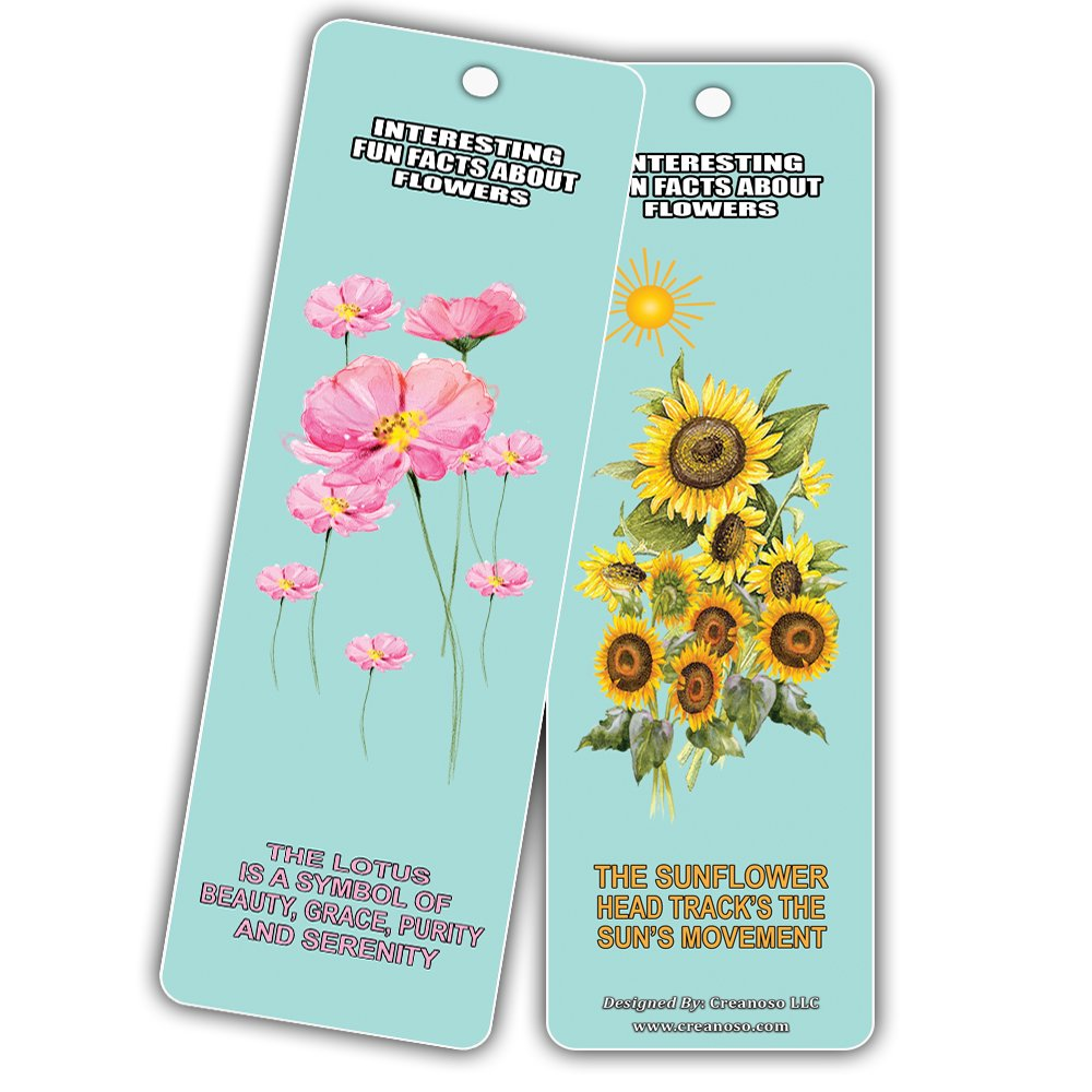 Amazon creanoso interesting fun facts about flowers bookmarks amazon creanoso interesting fun facts about flowers bookmarks 60 pack flower facts bookmarker cards for enhanced reading great rewards incentive izmirmasajfo