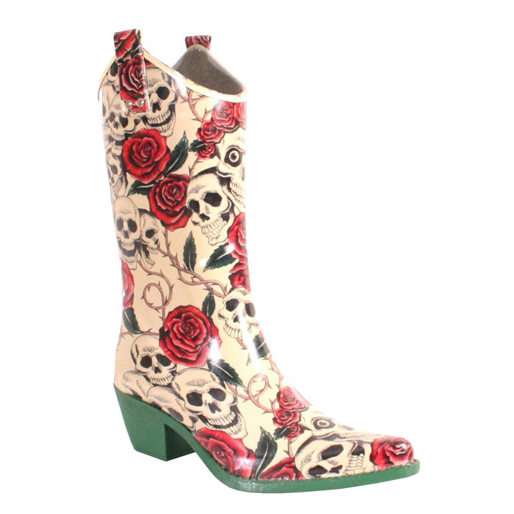 Nomad Women's Yippy Rain Boot B0151IJU3S 11 M US|Natural Skull Rose