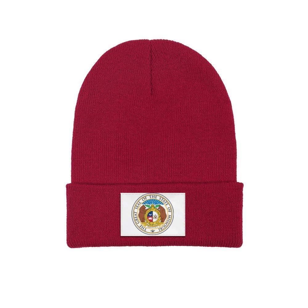 FYFYOK Mens Slouchy Beanie Hat Toboggan Hats Missouri State Seal Ski Cap
