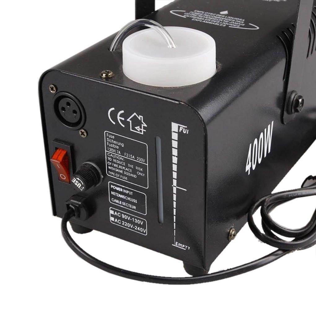 Mini Portátil Remote 400W Máquina de niebla DJ Show Stage Smoke Fogger Equipamiento W400 (NO LED): Amazon.es: Instrumentos musicales