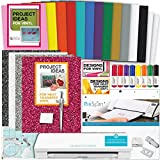 Silhouette Cameo 3 Machine Bundle Glitter HTV + Designs, Adhesive Backed Vinyl, PixScan Mat, Tools, Pens