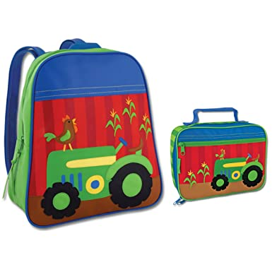 Amazon.com | Stephen Joseph Boys Tractor Backpack and Lunch Box ...