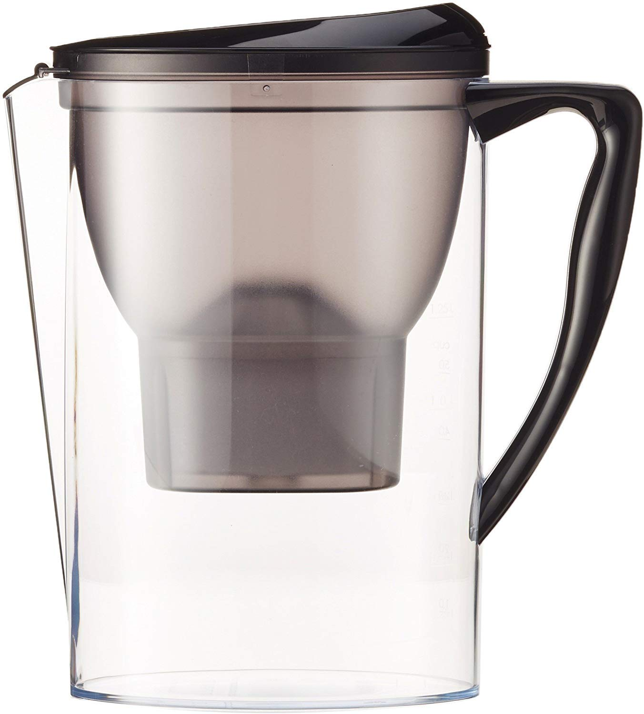 AmazonBasics – Jarra de filtrado de agua (2,3 L) - Negro: Amazon ...