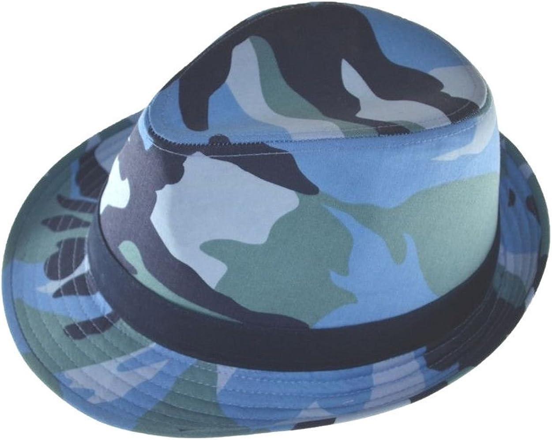 G Men/'s Camouflage Fedora Hat Blue Camo