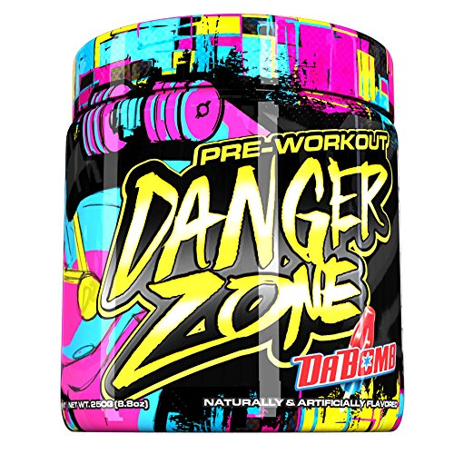 Danger Zone Pre Workout by Stevie J, Energy and Focus, Da Bomb, 25 Servings, ...