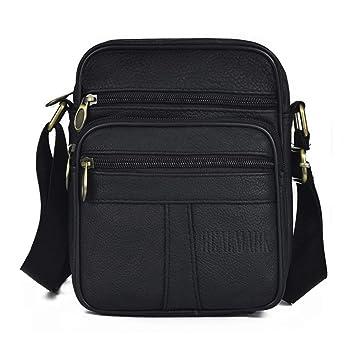 bce38d2cd Realmark-Bolso bandolera de piel auténtica para hombre, bolso de negocios:  Amazon.es: Electrónica