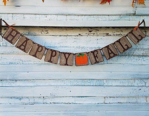 (Happy Fall Rustic Burlap Banner)
