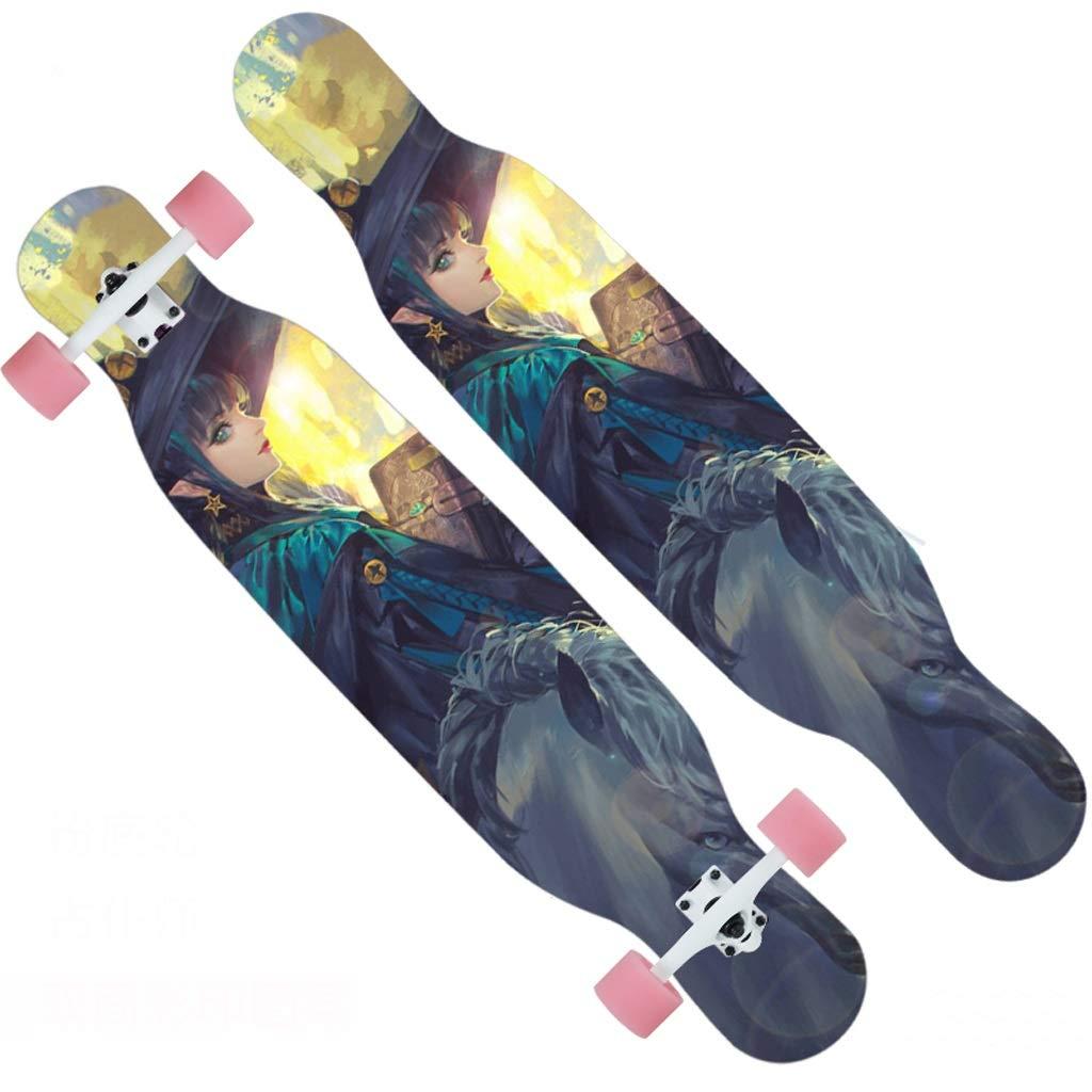 買い誠実 DUWEN スケートボードプロのメープルスケートボードティーン大人の男性と女性ダンスボードブラシストリート旅行初心者スクーター (色 : : B) (色 B07NQ4VT64 D B) D, エムズカンパニー:3cd2890f --- a0267596.xsph.ru