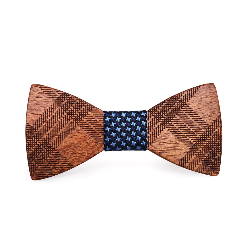 Mahoosive Men's Creative Handmade Wood Bow Tie With Wooden Gift Box