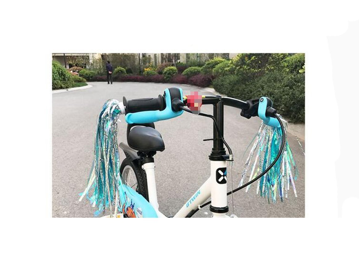 Kids Scooter Bike Handlebar Streamers Children Scooter Bicycle Grips Colourful Sparkle Tassel Ribbon Baby Carrier Accessories Easy Attachment to Bikes Handlebars