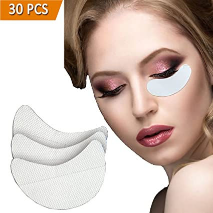 Buy Ladygo 30 Pieces EyeShadow Shields, Professional Medical Shadow S Non-woven Cloth Makeup Shield For Eyelash Extensions/Lip Makeup Online at Low Prices ...