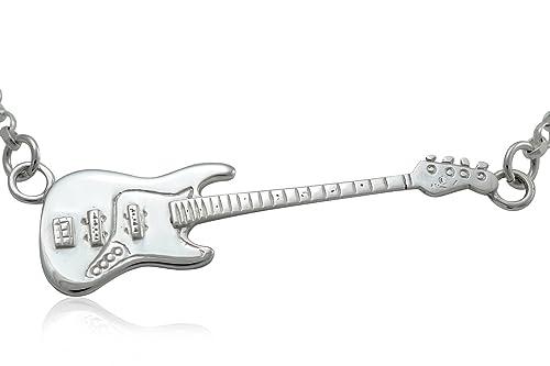 Grandes de plata de ley de Fender Jazz Bass guitarra colgante y ...
