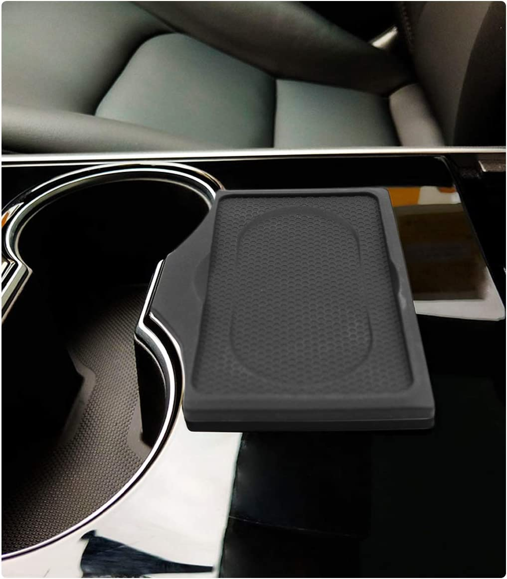 RUIYA Tesla Model 3 Portachiavi per Valet e Portachiavi in Gel di silice Nero