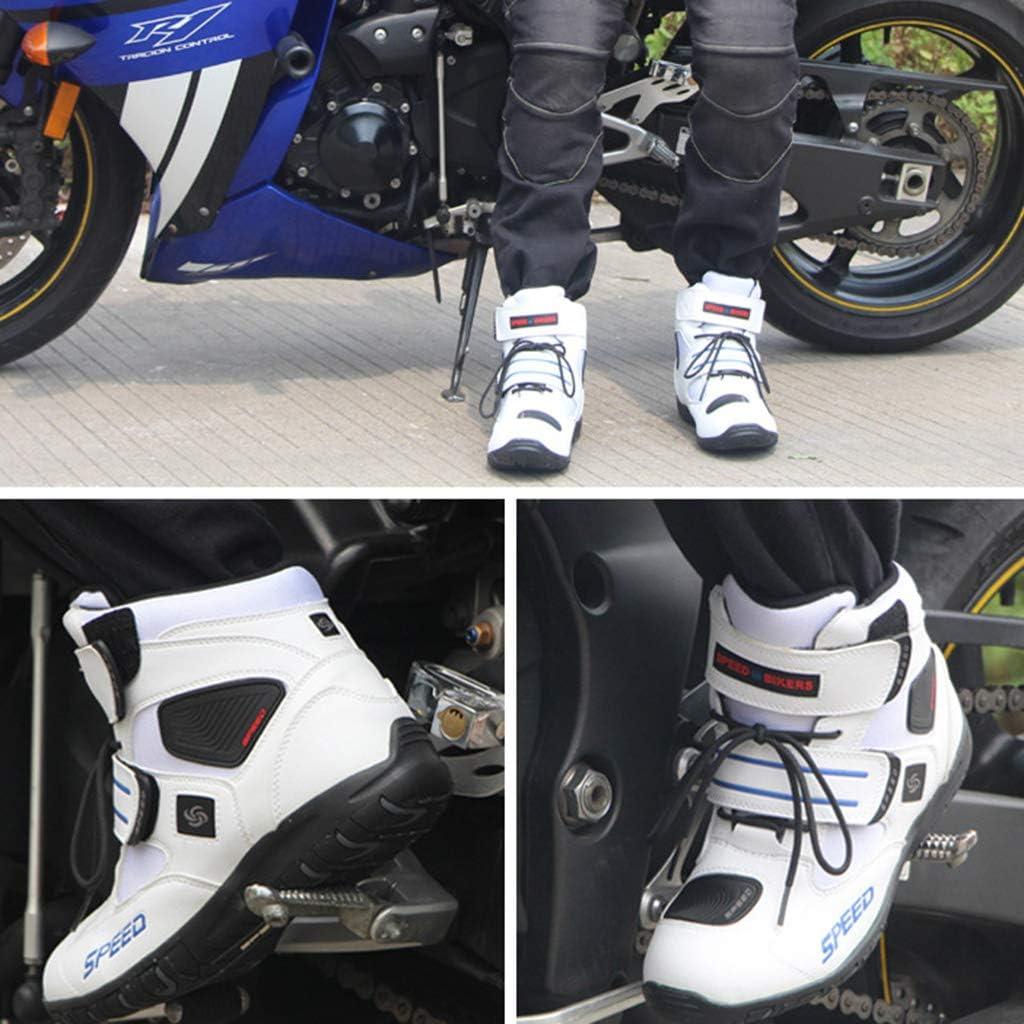 NHX Motorradschuhe Wasserdicht Tourenpanzer Schutz Scooter Onroad-Stiefel Herren Damen Bequeme Stiefel Reiterstiefel,Red-43