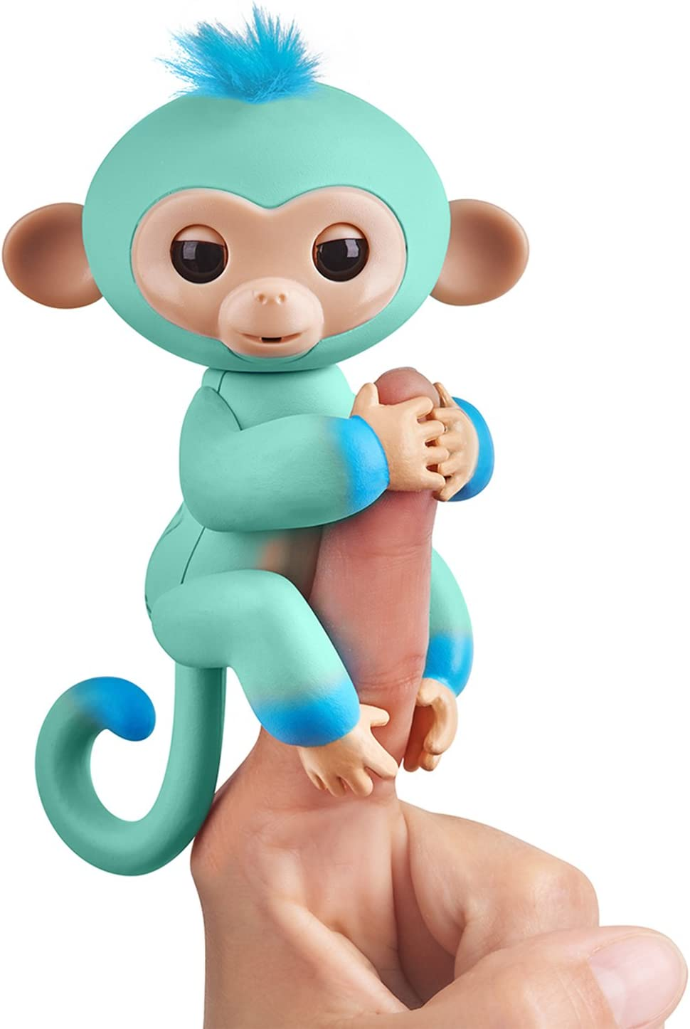 Fingerlings 2Tone Monkey - Eddie (Seafoam Green with Blue Accents) - Interactive Baby Pet