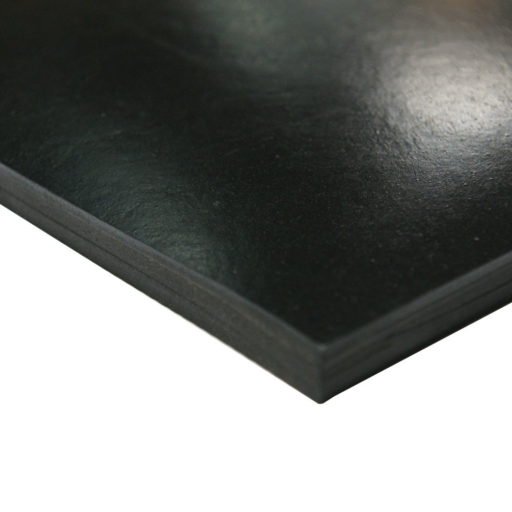 Smooth Finish Neoprene Sheet No Backing Black 0.375 Thickness 2 Width 40A Durometer 36 Length 0.375 Thickness 2 Width 36 Length Small Parts