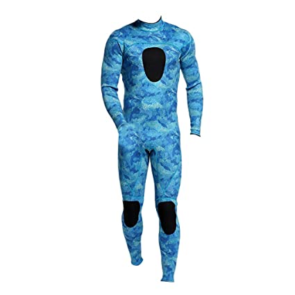 9ebc2d6787 Jili Online FULL BODY Adults Winter Warm Wetsuit - Surfing Diving Mens Long  Sleeve Swimwear XL