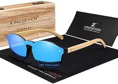 HHCUIJ Bambú natural Gafas de sol Protección UV Gafas Madera Gafas de sol Gafas de sol con estuche de madera: Amazon.es: Ropa y accesorios