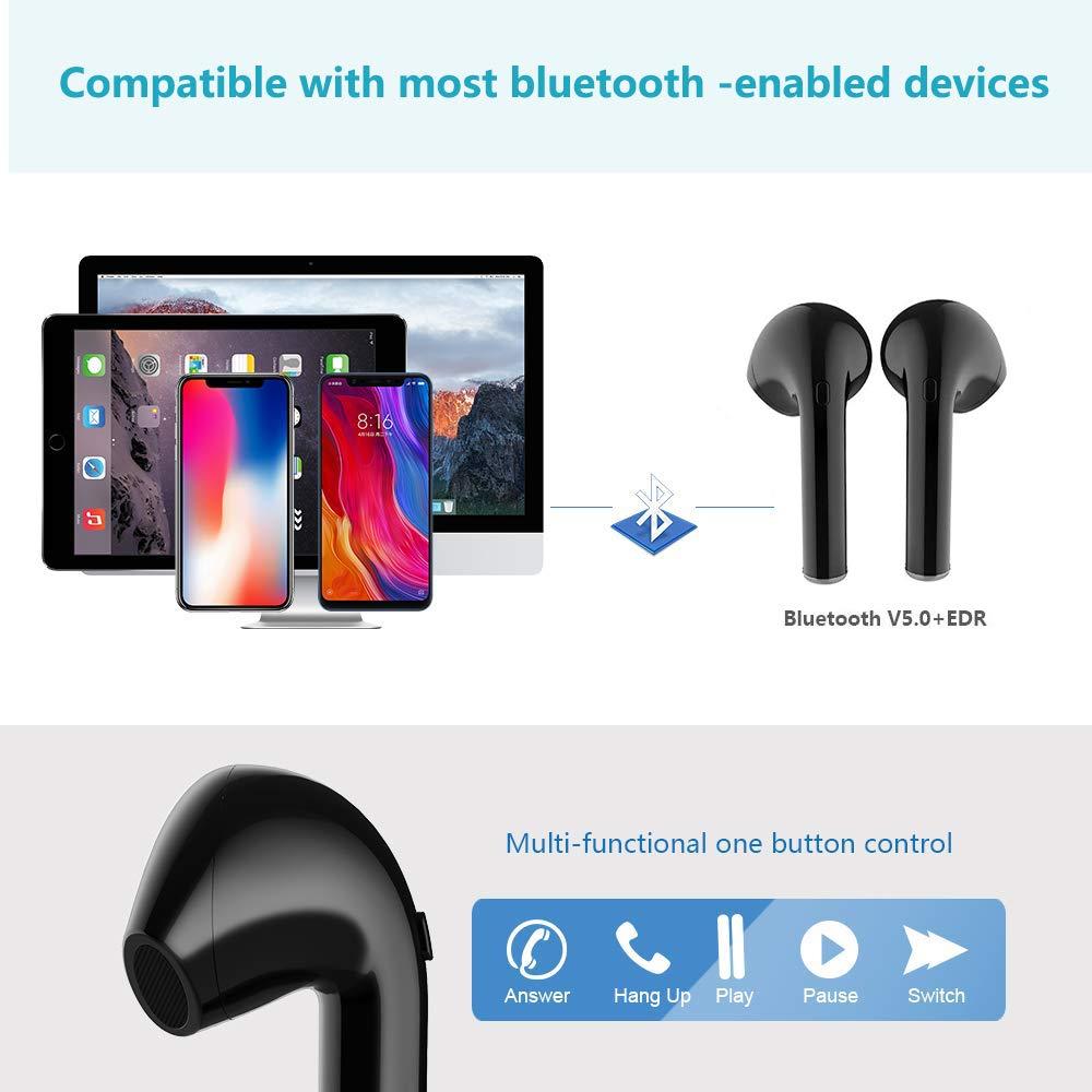 Cuffie Bluetooth 5.0 Auricolare Bluetooth stereo X10 Mini Auricolari Senza Fili//Cuffie sportive Wireless con scatola di ricarica Portatile//Compatibile con ios and Android
