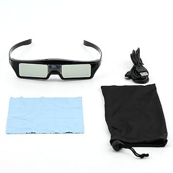 Gafas de Obturador Activo 3D IR para proyector BenQ W1070 W700 ...