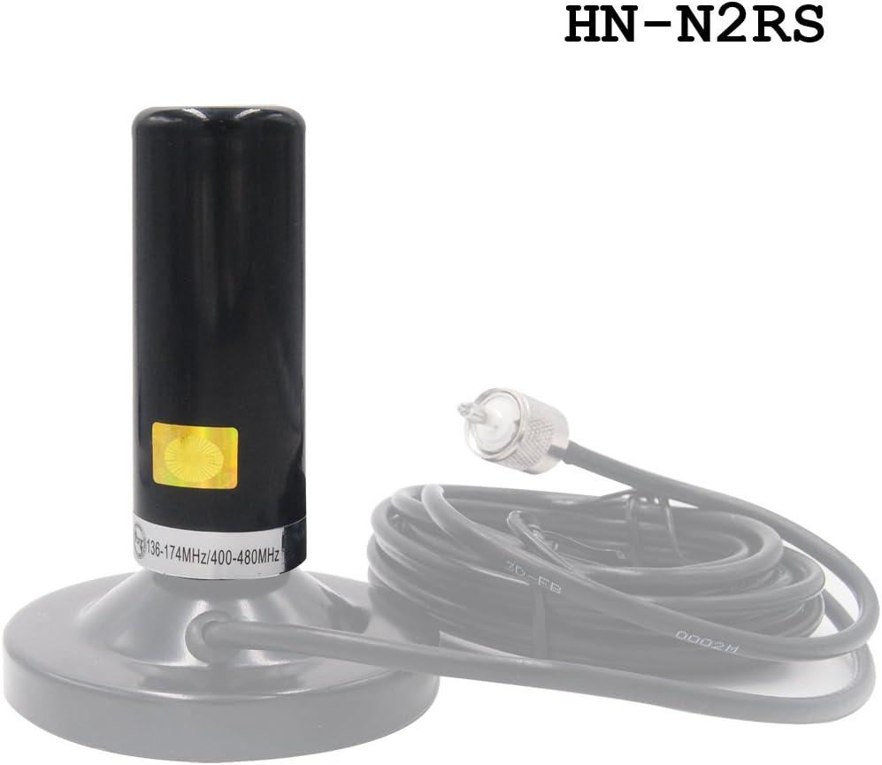 Black Mobile Antenna Dual Band VHF UHF EasyTalk HH-N2RS High Gain Long Range Short Antennas for Car Radio Transceiver Yaesu Kenwood HYT Vertex Wouxun Baofeng TYT